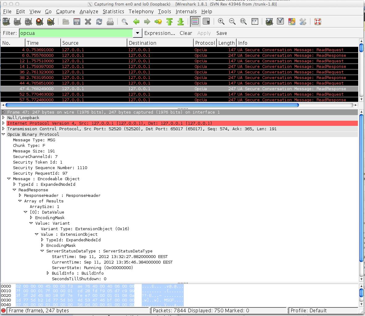 OPC UA & Wireshark