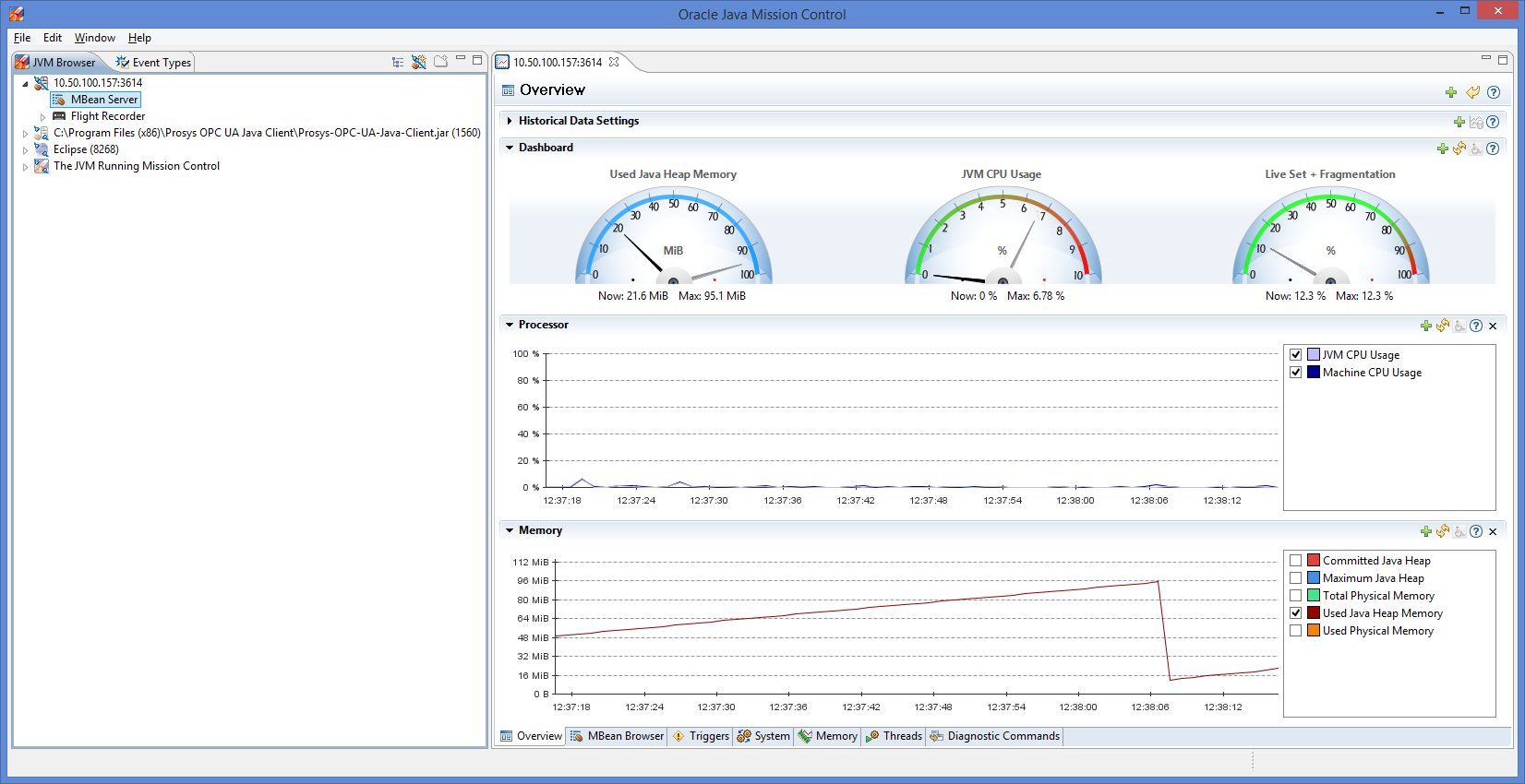 Using Java Mission Control for performance monitoring