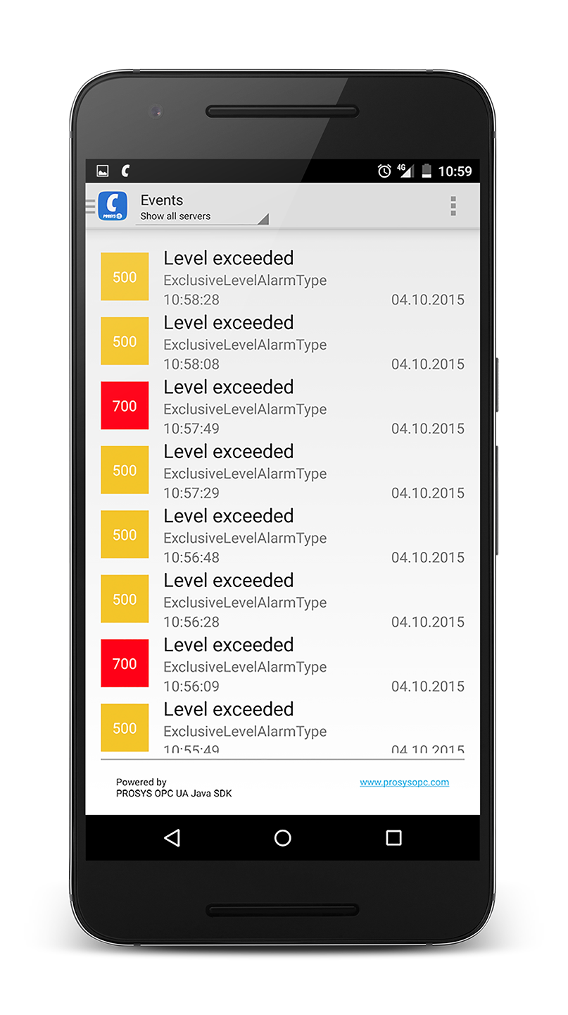 Prosys OPC UA Client for Android - Prosys OPC