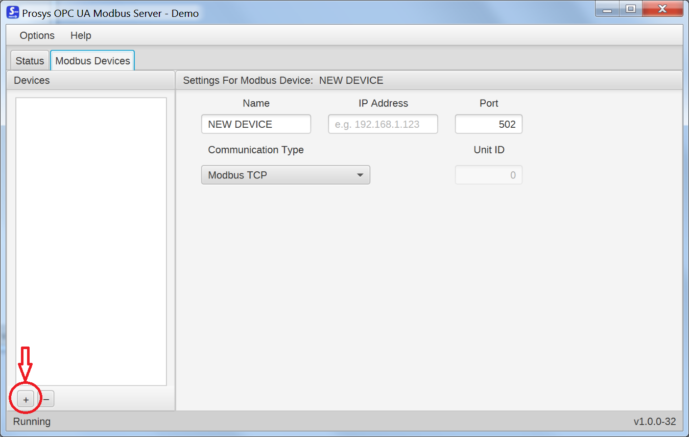 Configuring Prosys OPC UA Modbus Server